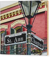 St. Ann And Chartres Nola  Wood Print