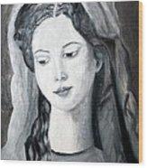St. Anne - Value Work  Wood Print