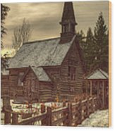 St Anne's Church In Winter Wood Print