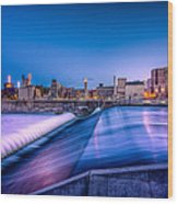 St. Anthony Falls In Minneapolis Wood Print