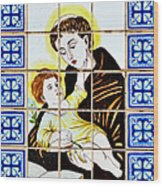 St Anthony Of Padua Wood Print
