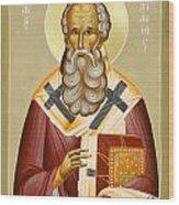 St Athanasios The Great Wood Print by Julia Bridget Hayes