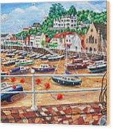 St Aubin's Harbour - Jersey Wood Print