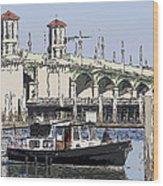 St Augustine Bridge View Wood Print