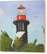 St. Augustine Light Wood Print