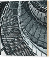 St Augustine Lighthouse Staircase Wood Print