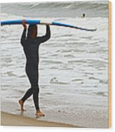 St Augustine Surfer Four Wood Print
