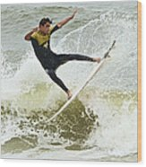 St Augustine Surfer Two Wood Print