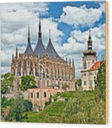 St Barbara Church Kutna Hora Wood Print