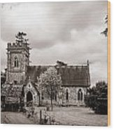 St Barnabas Faccombe Wood Print