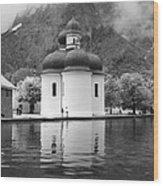 St. Batholomae At The Lake Wood Print