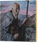 St. Benedict Wood Print