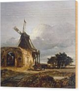 St Benets Abbey And Mill, Norfolk, 1833 Wood Print