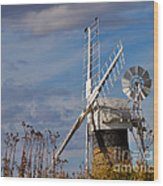 St Benets Drainage Mill Norfolk Wood Print