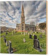 St Beuno Church Wood Print by Adrian Evans