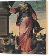 St Catherine Of Alexandria, 1570 - 1611 Wood Print