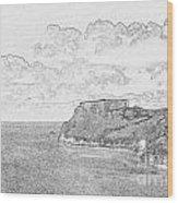 St Catherines Rock Tenby 2 Wood Print