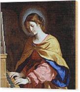 St Cecilia Wood Print