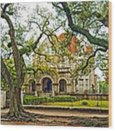 St. Charles Ave. Mansion Wood Print