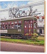 St. Charles Ave. Streetcar 2 Wood Print