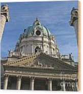 St Charles Church Vienna Austria Wood Print