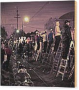 St Charles Night Parade Wood Print by Ray Devlin
