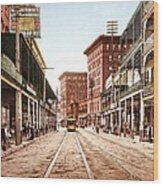 St Charles Street New Orleans 1900 Wood Print by Unknown