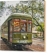 St. Charles Streetcar 2  Wood Print