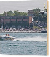 St. Clair Michigan Usa Power Boat Races-4 Wood Print