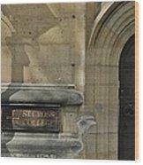 St. Cross College Wood Print