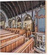 St David Church Wood Print
