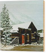 St Elmo Snow Wood Print