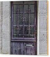 St Emilion Door Wood Print by Georgia Fowler
