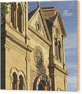 St. Francis Cathedral - Santa Fe Wood Print by Mike McGlothlen