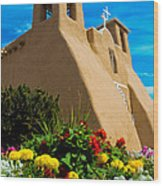 St Francis D'asis Mission Church. Taos New Mexico Wood Print
