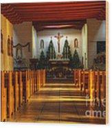 St Francis De Paula Mission Tularosa Wood Print by Bob Christopher