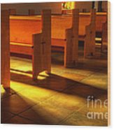 St Francis De Paula Shadow And Light Wood Print