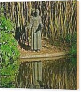 St. Francis In Nature Wood Print