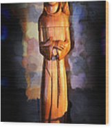 St. Francis Of Assisi By George Wood Wood Print