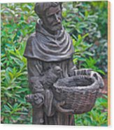 St Francis Of Assisi Garden Statute Wood Print