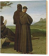 Saint Francis Of Assisi, While Being Carried To His Final Resting Place At Saint-marie-des-anges Wood Print