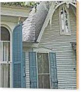 St Francisville Inn Windows Louisiana Wood Print