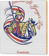 St. George Day Celebration Proud To Be English Retro Poster Wood Print
