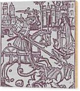 St. George - Woodcut Wood Print