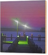 St. Georges Island Dock - Just Before Sunrise Wood Print