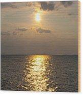 St George's Island Sunset Wood Print