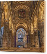 St. Giles Interior Wood Print