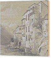 St Giulio Orta Wood Print by Edward Lear