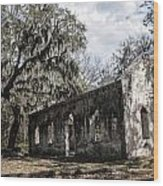 St Helena Chapel Of Ease 1  Wood Print by Steven  Taylor