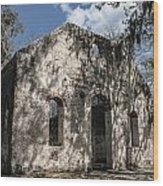 St Helena Chapel Of Ease 2 Wood Print by Steven  Taylor